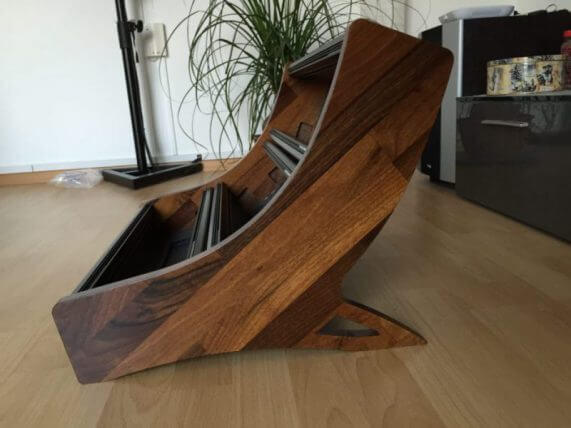 Eurorack case - 9U with walnut cheeks and black boats