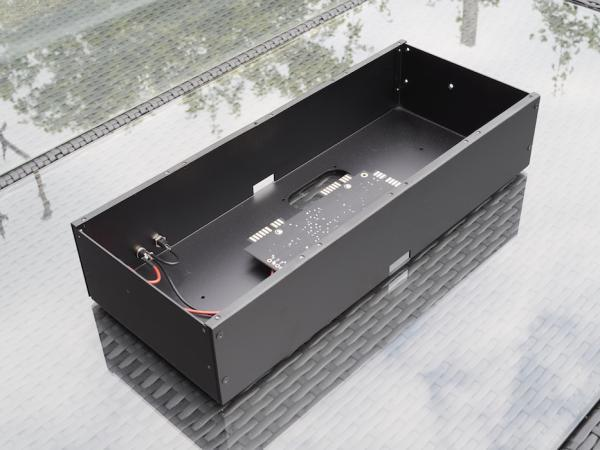 Black 4U Buchla format boat (powered)